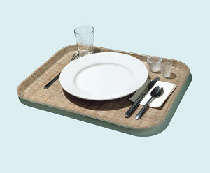 R115007 © CSA Images Mobile Place Setting on Tray